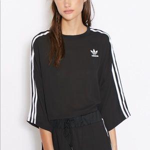 Adidas Black Chiffon T-Shirt